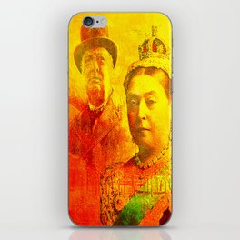 Queen Victoria and Churchill iPhone Skin