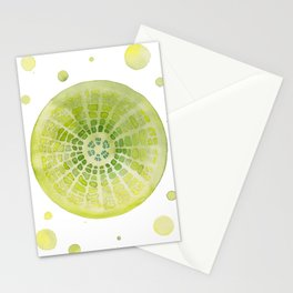 Microscopic: Diatoms - Green Palette Stationery Cards