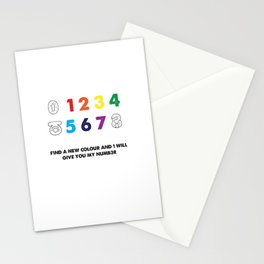 Find a new colour and I'll give you my number Stationery Cards