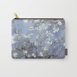 Vincent Van Gogh Almond Blossoms : Steel Blue & Gray Carry-All Pouch
