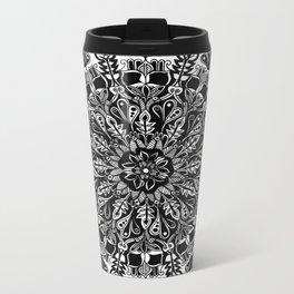 Mandala: Skeleton Leaves Metal Travel Mug