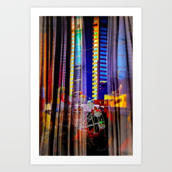 Behind the curtain 4 (Melbourne downtown) Art Print