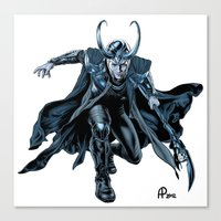 loki Canvas Prints featuring Loki by Alessia Pelonzi