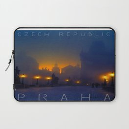 Prague, vintage poster Laptop Sleeve