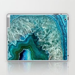 Aqua turquoise agate mineral gem stone- Beautiful Backdrop Laptop & iPad Skin