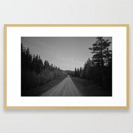 Road in the woods   35 mm film   Fine Art Framed Art Print