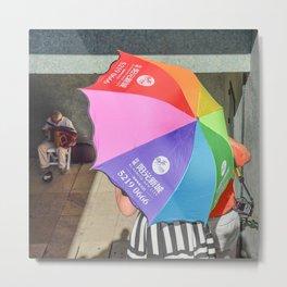 le parapluie et l'accordéon Metal Print