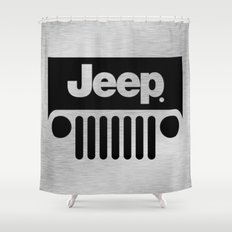 Jeep Steel Chrome Shower Curtain