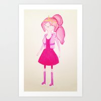 princess bubblegum Art Prints featuring Princess Bubblegum by Cassio