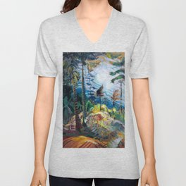 Emily Carr - British Columbia Landscape - Canada, Canadian Oil Painting - Group of Seven Unisex V-Neck