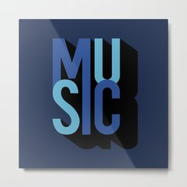 Music (text) Metal Print