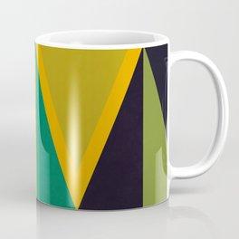 Green Triangles Coffee Mug