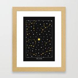 The Star - Tarot Illustration Framed Art Print