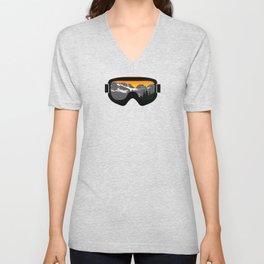 Sunset Goggles 2 | Goggle Designs | DopeyArt Unisex V-Neck