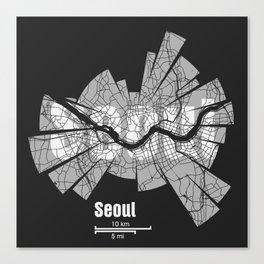 Seoul Map Canvas Print
