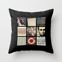 politics Throw Pillows featuring Conservative Politics by politics