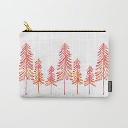 Pine Trees – Pink & Peach Ombré Carry-All Pouch