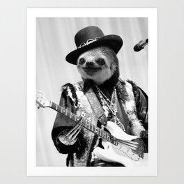 Rockstar Sloth #2 Art Print