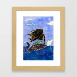 Lady of the Atlantic Crossing Framed Art Print