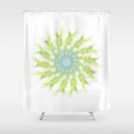 Birds, leaves and sky Shower Curtain