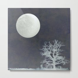With that Moon Language Metal Print