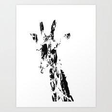 Giraffe Scribble 2 Art Print