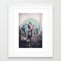 dj Framed Art Prints featuring DJ by Ali GULEC