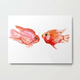 Parrot Cichlids Metal Print