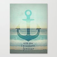 anchor Canvas Prints featuring ANCHOR by Monika Strigel