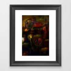 Train de nuit Framed Art Print