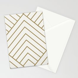 Diamond Series Pyramid Gold on White Stationery Cards