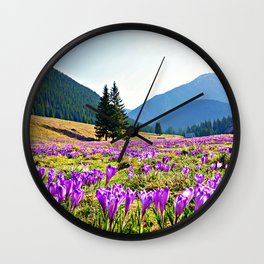 Spring in the Mountains Wall Clock