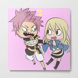 Nalu (Natsu and Lucy) Metal Print