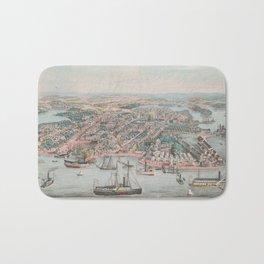 Vintage Pictorial Map of Annapolis MD (1864) Bath Mat