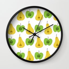 Apple and pear pattern Wall Clock