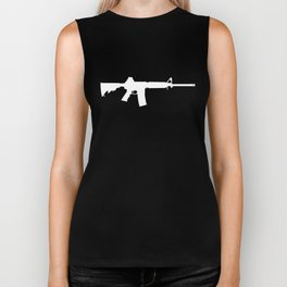 AR-15 (on black) Biker Tank