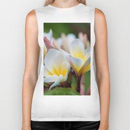 White Spring Flower Biker Tank