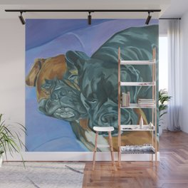 Boxer Buddies Dog Portrait Wall Mural