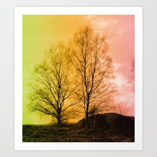 Warm Glow  - JUSTART © Art Print