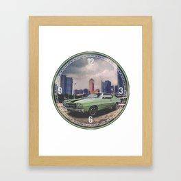 1970 Chevrolet Chevelle Decorative Wall Clock Framed Art Print