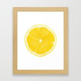 LOVE LEMON Framed Art Print