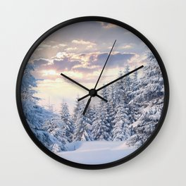 Snow Paradise Wall Clock