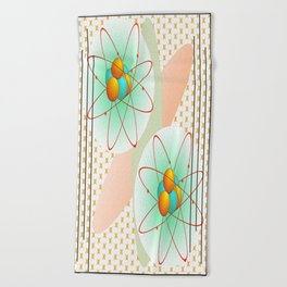 Mid-Century Modern Art Atomic 1.0 Beach Towel