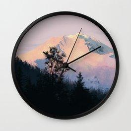 Mountain Sunrise 01 Wall Clock