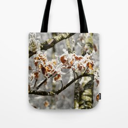 Frosted Leaves Tote Bag