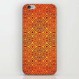 Chinese red gold 1 iPhone Skin