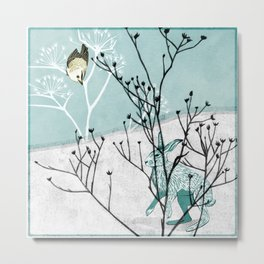 Out in the snow Metal Print