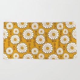 Harry Sunflower Shirt Flower Print Hippie Pop Art Floral Pattern Beach Towel