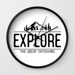 Explore the Great Outdoors Wall Clock