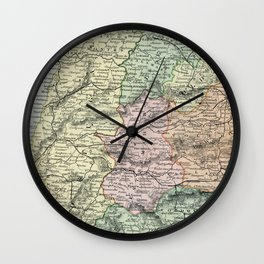 Spain and Portugal Vintage Map Wall Clock